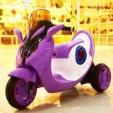 Conduite électrique en plastique brillamment légère de gosses sur la moto