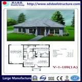 Casa de campo luxuosa pré-fabricada da casa de aço clara com patamar