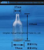 Frasco de vidro para a bebida e beber