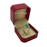 Пластичная поддельный коробка кольца Gifit ювелирных изделий кожаный бумаги Jy-Jb169
