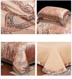 Роскошный комплект крышки Duvet жаккарда хлопка сатинировки