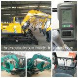 Bd80 máquinas escavadoras amarelas pequenas da esteira rolante (0.4m3/7.5T) para a venda