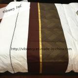 Linho de cama decorativo do corredor da cama da tela do hotel da estrela da venda por atacado cinco