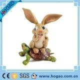 Figurine com a melhor nota do coelho da resina da decoração do jardim de Polyresin