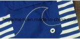 Il tessuto di Mose si imbarca sugli Shorts, Shorts della spiaggia stampati striscia blu dell'uomo