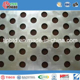 Buracos quadrados / redondos Malla de metal perfurada / Aço inoxidável / Galv.