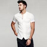 Camisa ocasional del diseño de los hombres de encargo de la venta al por mayor del fabricante de China
