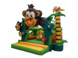 3D猿の主題の膨脹可能な跳躍の警備員
