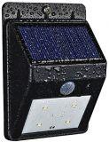 4 lumière lumineuse actionnée solaire de degré de sécurité de détecteur de mouvement de DEL PIR