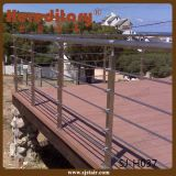 Polvere che ricopre il corrimano dell'acciaio inossidabile nella scala (SJ-H039)