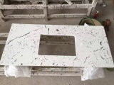 Bancadas brancas de quartzo da superfície de quartzo de Calaccata