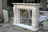 Mensola del camino di marmo Sy-Mf324 del camino intagliata mano antica bianca di Carrara