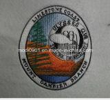 最上質の刺繍メダル衣服のラベル