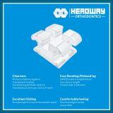 Corchete ortodóntico del zafiro de Monocry Stalline de la alta calidad con el Ce, ISO, FDA