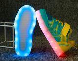 Дети одиночного велкроего обувают светящие ботинки флуоресцирования ботинок перезаряжаемые