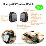O relógio idoso do perseguidor do GPS com GPS+Lbs Dual a posição (Y6)