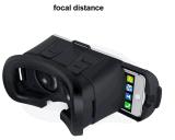 Bluetooth 손잡이를 가진 가상 현실 게임 Google 마분지 2.0 Vr 상자 3D 유리