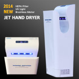 2014 nuovo Automatic Hand Jet Dryer in High Speed 95m/s White/Silver (AK2030)