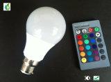 5W RGB LED Birne E27 B22 Dimmable 120 Grad-Birnen-Licht
