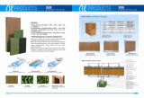 Garniture de refroidissement par évaporation avec la conformité de GV pour la serre chaude