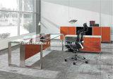 Nuevo escritorio de oficina ejecutiva del CEO de la tapa del vidrio Tempered del diseño (HF-SIA002)