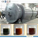 12ton Plasitc y planta de la pirolisis del neumático que consigue el petróleo del horno