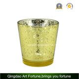 De gebemerkte Gevulde Votive Kaars van het Glas met het Deksel van het Metaal