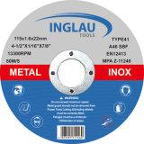 余分薄い切断ディスク115X1.0X22.2mm極度の品質