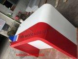 يصمّم أبيض وحمراء متجر عرض عدّاد طاولة طويلة عرض طاولة