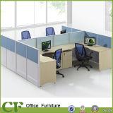 Bereiftes Glas-modularer Büro-Landung-Bildschirm-Partition 4 Seaters Arbeitsplatz