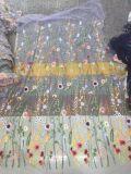 Nuovo tessuto del ricamo di alta qualità di disegno per il vestito