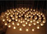 Luz de teto contínua das esferas de vidro da bolha para o projeto do hotel