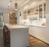 Gabinetes de cozinha cozidos armário da pintura da cozinha do preço razoável de China
