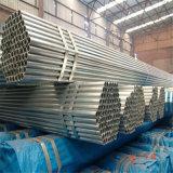 Tubo galvanizado cubierto cinc redondo laminado en caliente del acero de la estructura de ERW
