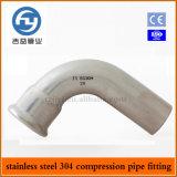 Imprensa do aço inoxidável que cabe a única compressão cotovelo de 90 graus