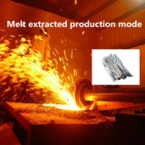 Fibre d'acier inoxydable pour moulable réfractaire