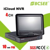 Poe 10 Inchの4CH 720p P2p Mobile Phone NVR