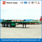 China Competitive Price ISO 2015 Flat Semi Trailer für Wholesale mit Container Locks