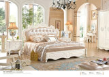 Insieme di camera da letto reale di stile con l'apprettatrice, guardaroba, basamento di notte (6009)