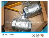 2PC шариковый клапан нержавеющей стали 304 продетый нитку 1000wog/2000wog