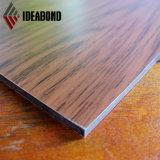 Los paneles compuestos de aluminio del espesor de madera decorativo del final 0.12*0.5m m Alu de Ideabond Ae-306 para la oficina interior Partion