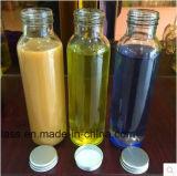 Botella de cristal de la bebida de la alta calidad 350ml para el jugo con la tapa de madera