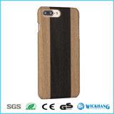 Cas en bois de dos de cuir de configuration pour l'iPhone 7/7 positifs