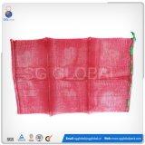 50*80cm roter pp. Röhrenineinander greifen-Beutel für verpackenorangen