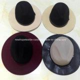 형식 가짜 모직 대조 색깔 중절모 모자