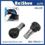 Válvula del neumático del neumático de Tr412 Tr413 Tr414/válvulas sin tubo Snap-in con el material de goma