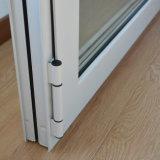 Guichet en aluminium de tissu pour rideaux de profil de couleur de qualité d'interruption thermique enduite blanche de poudre avec le blocage multi K03039