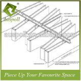 Совмещенные плитки потолка квадратной пробки размера белые ые линейные алюминиевые