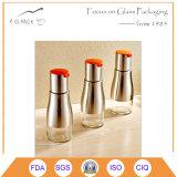 De hete die Fles van de Tafelolie van de Keuken van de Verkoop in Glas, de Dekking van het Roestvrij staal wordt gemaakt
