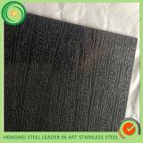 Черный волосяный покров листа нержавеющей стали закончил для украшения здания стены